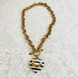 Juicy Couture nautical heart necklace